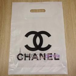 Полиэтиленовый подарочный пакет Chanel (40*30)