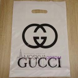 Полиэтиленовый подарочный пакет Gucci (40x30)