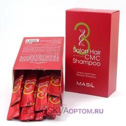 Восстанавливающий профессиональный шампунь с керамидами Masil 3 Salon Hair CMC Shampoo 20 шт х 8 мл