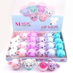 Защитный бальзам для губ Magic your life мышки (12 шт)