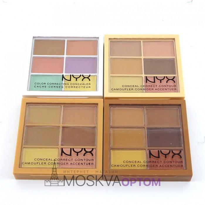 Палитра кремовых корректоров- консилеров NYX 6 цветов (в ассортименте)