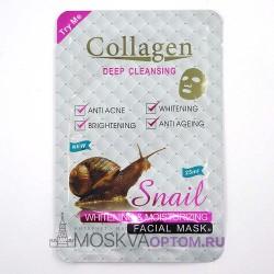 Коллагеновая тканевая маска для лица Snail Collagen Deep Cleansing