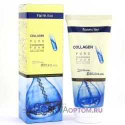 Очищающая пенка с коллагеном FarmStay Collagen Pure