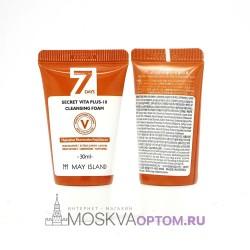 Витаминная пенка для умывания May Island 7 Days Secret Vita Plus-10 Cleansing Foam 30 мл
