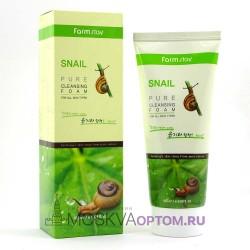 Очищающая пенка с муцином улитки Farmstay Snail Pure Cleansing Foam