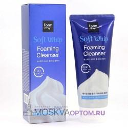Воздушная пенка для умывания с гиалуроновой кислотой FarmStay Soft Whip Foaming Cleanser