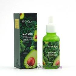 Питательная сыворотка BioAqua Niacinome с текстурой спелого авокадо