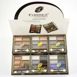 Тени для век Farres 6 цветные перламутровые 1104 (6 шт)