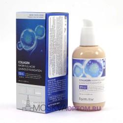 Коллагеновый тональный крем Farm Stay Collagen с эффектом сияния (тон №21)