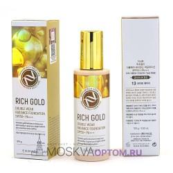 Тональный крем с золотом Enough Rich Gold Double Wear Radiance Foundation SPF50+ PA+++ (тон № 13)
