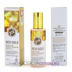 Тональный крем с золотом Enough Rich Gold Double Wear Radiance Foundation SPF50+ PA+++ (тон № 21)