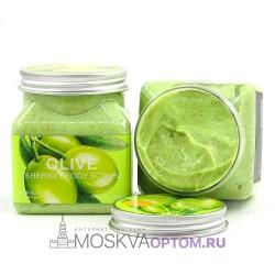 Скраб для тела с экстрактом оливы Wokali Olive Sherbet Body Scrub