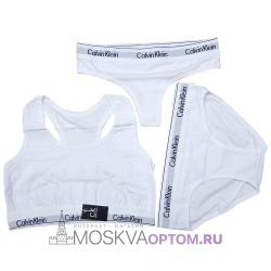 Женский набор нижнего белья Calvin Klein 3 в 1 (белый)